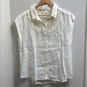 Anthropology Linen blouse